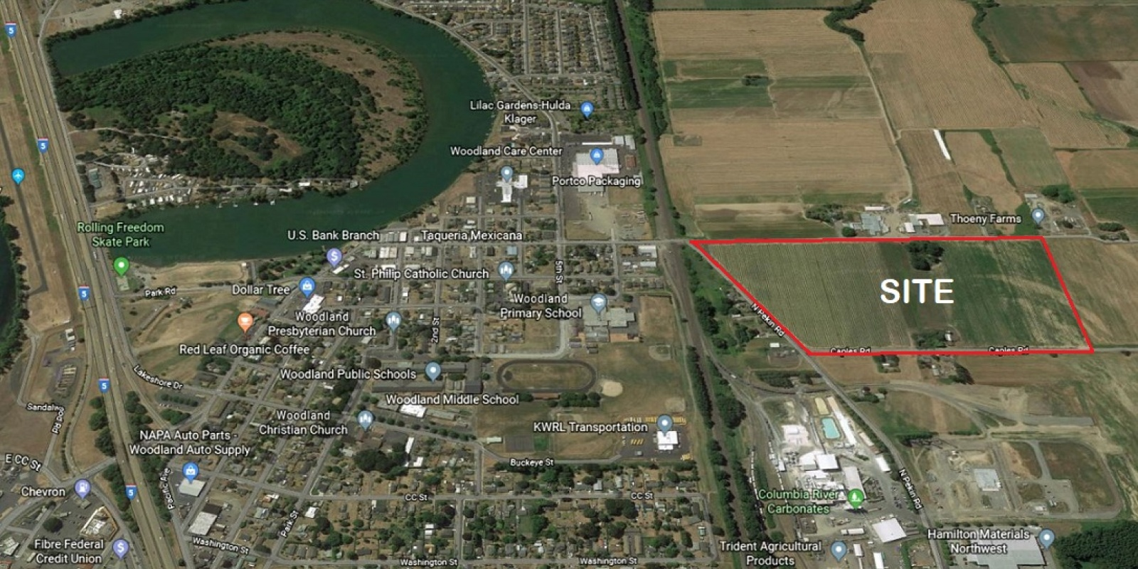 46.83 AC Heavy Industrial Woodland, WA