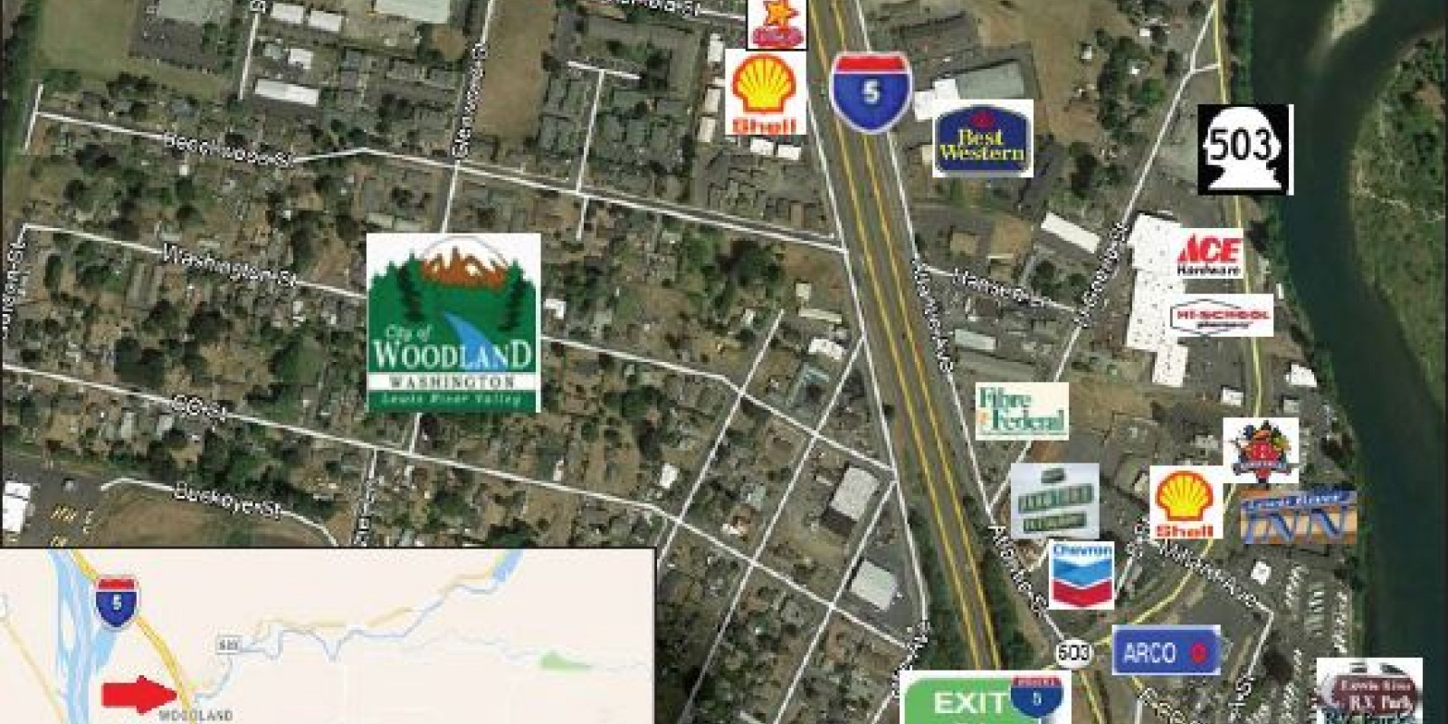 Woodland Hwys, Businesses