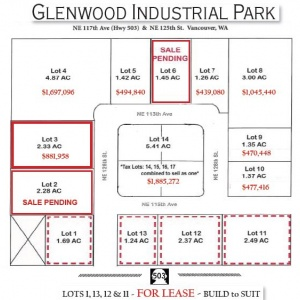 NE 117th Ave & 125th St. Vancouver, WA 98662, ,Land,For Sale,Glenwood Industrial Park,NE 117th Ave & 125th St. Vancouver, WA 98662,1248
