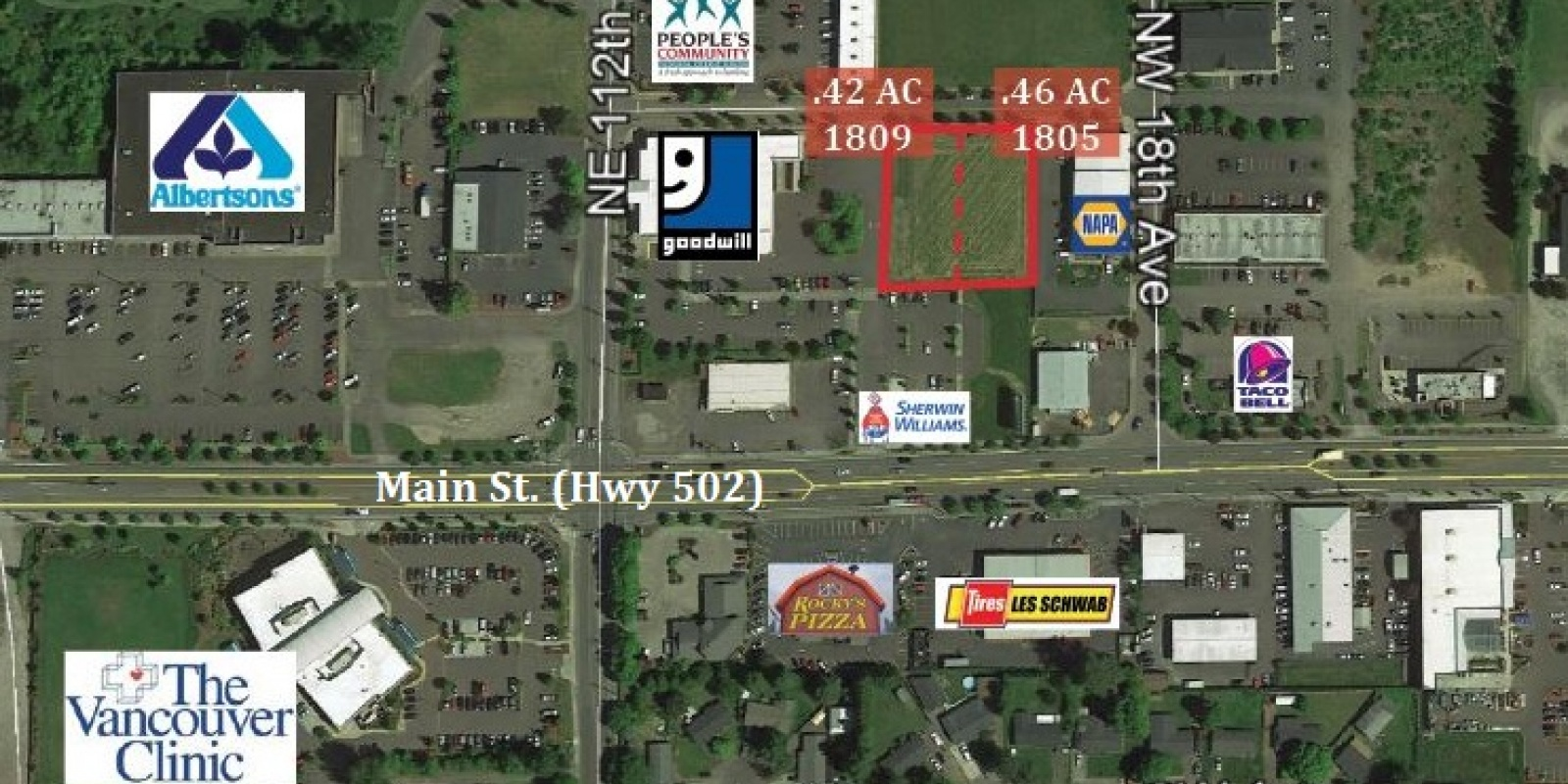 .88 AC Commercial 2 Lots