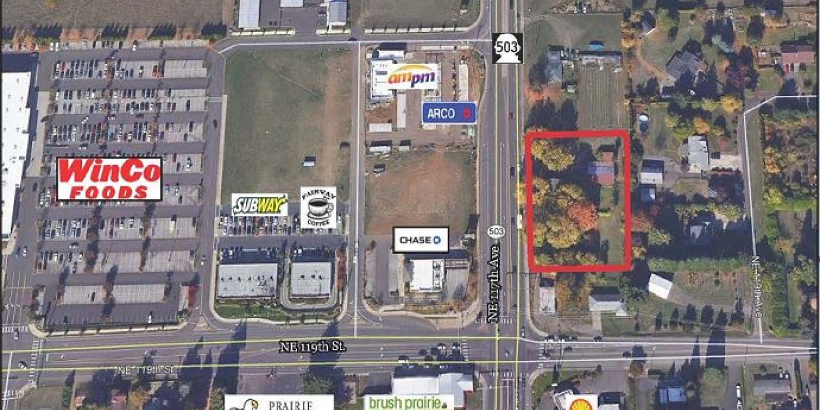 1.20 AC on Hwy 503 Commercial