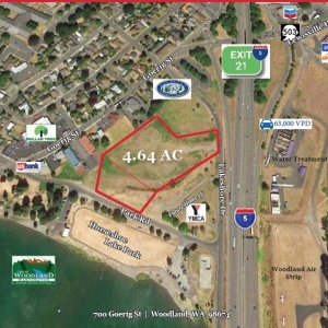 4.64 AC  Prime Development Land on I-5 Exit 21